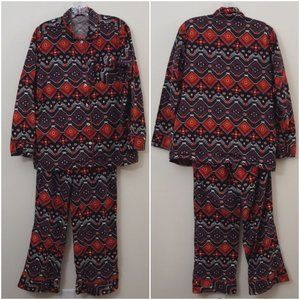 3/$20 Woolrich Pajama Set Aztec Tribal Long Sleeve